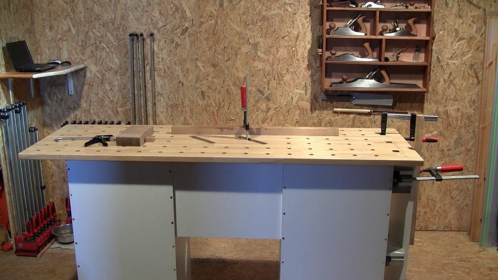 Copain des copeaux videos formation bois 2011 construire un tabli 1i re partie - Comment faire un etabli de garage ...