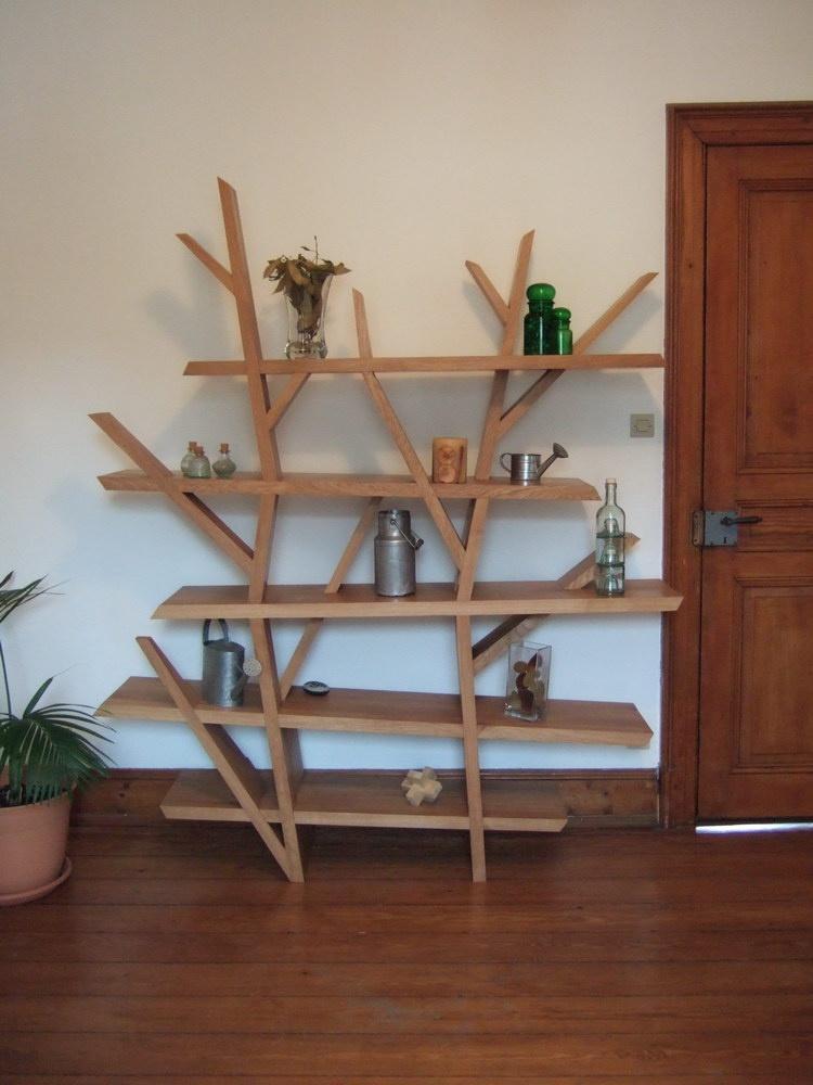copain des copeaux plans etag re arbre. Black Bedroom Furniture Sets. Home Design Ideas